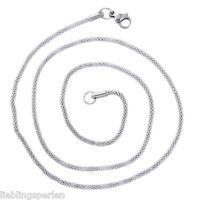1 Unisex Edelstahl Halskette Kette Halsschmuck Modeschmuck Silberfarbe 52cm