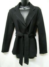 BANANA REPUBLIC Size S Black Boiled Wool Belted L/S Cardigan Sweater Jacket NWOT