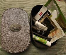 MAC~Silver Cameo Heirloom Keepsake Box~Jewelry Makeup Storage Case~WORLD SHIP!