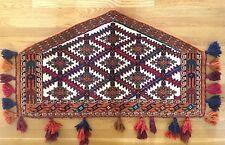 Antique 1900's Asmalyk Wedding Rug Wool Yomud Turkmen 4 ft 3 in by 2 ft 5 in