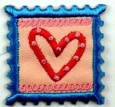 Applikation zum Aufbügeln Bügelbild  3-149  Briefmarke Herz