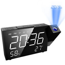 1*Digital USB Electric Led Alarm Clock With Phone Wireless Charger Table Desktop