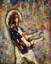 Jimmy Page Of Led Zeppelin Jimmy Page Pop Art 8x10inch Free Shipping