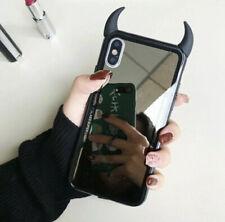 Luxury Mirror Phone Case For iPhone 7 6 6s 5 8 Plus Cute 3D Devil Horn Hard Acr