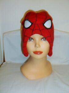 *NWOT* MARVEL SPIDER-MAN WHITE EYES KIDS RED BEANIE CAP / HAT~  OSFM