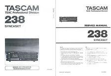 Tascam 238 Service & User Manual / Serviceanleitung und Bedienungsanleitung
