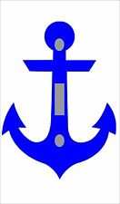 Navy Anchor  Single LIGHT SWITCH PLATE COVER ROOM DECOR  New