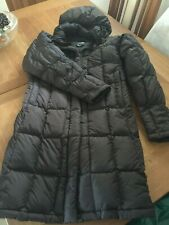 Ladies North Face Brown Long Down Padded Coat Size Small