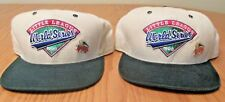 Two Little League World Series 1998 Snapback Caps - New Era With PINS Size M-Lg