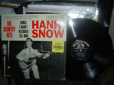 RARE-HANK SNOW-Songs I Haven't Recorded Till Now-1961 rca LPM-2458-in shrink-M-