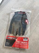 Snap On M-pack Fingerless Gloves Black/grey In Large NEW