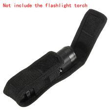 Black Nylon Holster Holder Belt Pouch Case for LED Flashlight Torch