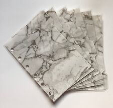 Filofax Mini Organiser - Beautiful Marble Patterned Dividers - Fully Laminated