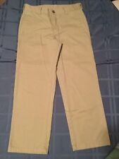 Boys Size 16 Regular George pants uniform khaki flat front button New