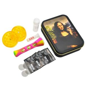 Smoking Pipe all in 1 Tobacco Pipe Metal Tobacco Box weed Silicone Plastic Herb