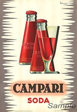 VINTAGE CAMPARI SODA ADVERTISING A2 POSTER PRINT