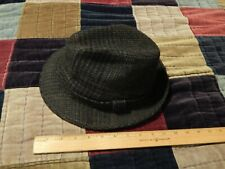 Stetson Fedora (Size: 7 1/8) Gray/Black Tweed ~ 1950's Business/Casual ~ Retro