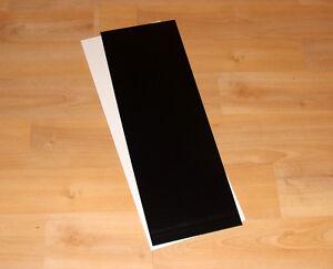 Tiefziehmaterial ABS Weiß & Schwarz glänzend 120 x 315 mm - 0,5 - 2,0 mm Stärke