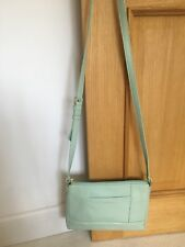LADIES AQUA GREEN LEATHER SHOULDER/ACROSS BODY BAG BY TIGNANELLO RFID PROTECTION