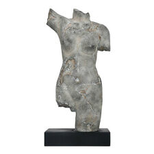 Tooarts Female Body Sculpture Imitate Stone Carving Resin Sculpture Vintage P3Z6