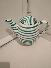 Gmundner Keramik Kanne groß für Tee oder Kaffee grüngefammt, gebraucht