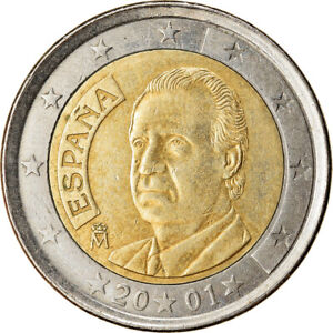 [#765345] Espagne, 2 Euro, 2001, TTB, Bi-Metallic, KM:1047