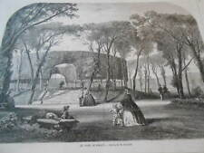 Gravure 1858 - Le Parc de Sceaux