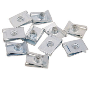 100 Piece You.S Cooling Fan Steckmutter Retention Clip Plate Nut Metal Clamp M6