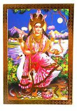 BILD  Picture Saraswati  Prägedruck INDIEN Altarbild 9x13 cm  s153