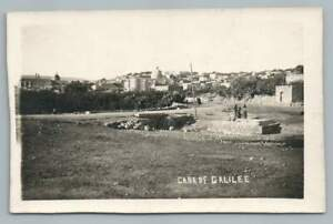 Cana of Galilee RPPC Antique Palestine Photo Postcard ~1920s