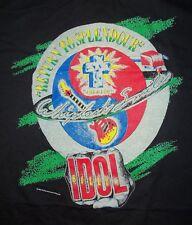 Vintage Billy Idol Black T-Shirt - 1986 Whiplash Smile Tour - L Used