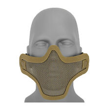Metal Mesh Half Face Tan Mask Airsoft Paintball Protective Tactical Gear AC-103T