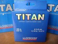 NYLON GRAUVELL TITAN 300 M ( 0,45 MM- 18,10 kg / 39,82 Lb  )