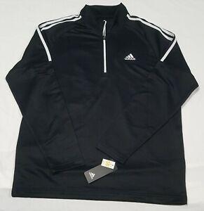 Adidas Mens's Golf French Terry sweat shirt 1/4 Zip Black UPF 50