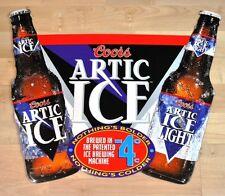 GRANDE Coors ARTIC ghiaccio birra bottiglie USA TARGA DI LATTA LAMIERA SCUDO