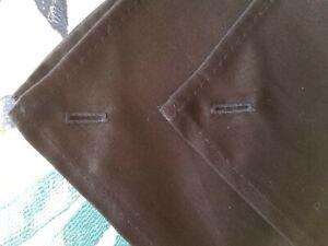 Qty 4 Black - Premium Dinner Napkins with Button Hole - 100% Cotton 20x20