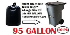 95 Gallon Trash Bags for Roll Carts Super Big Mouth Bags® FREE SHIPPING 3-MIL