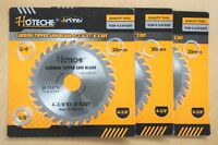"""Lot of (3) Carbide Tipped Saw Blade 4-3/8"""" x 30T Arbor 5/8"""" 3/4"""" 7/8"""" 20mm"""