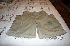 Ralph Lauren RRL DOUBLE RL Tan/Khaki Cotton Canvas Cargo Pants 33 x 32
