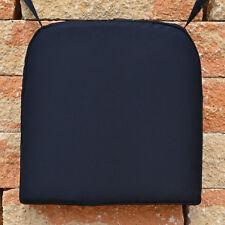 2 Stuhlkissen schwarz 49 X 48 Cm Waschbar mit Bindeband Kissen Stuhl Sitzkissen