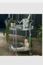 Deco Glamour Drinks Trolley - Silver