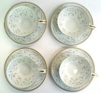 Noritake Cup and Saucer Set of 4 Glennis 5804 Vintage Made in Japan