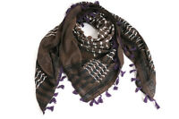 "Hirbawi Scarf Shemagh Brown Keffiyeh Unisex 47""x47"" Original Brand New Cotton"