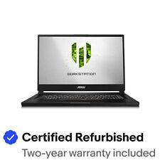 "[CR]MSI WS65 9TK-688 15.6"" Core i7-9750H RTX 3000/6GB 32GB 512GB SSD Win10 Pro"