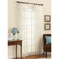 Better Homes and Gardens Embroidered Sheer Curtain Panel(New Open Package)