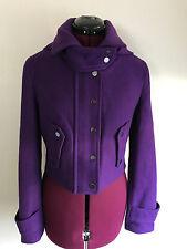 BCBG Max Azria Purple Wool Blend Hooded Jacket Sz S
