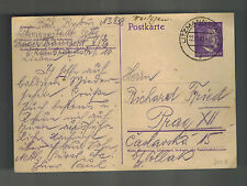 1941 Germany Litzmannstadt Ghetto postcard Cover To Prague Paul Rubin