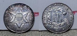 1861 Three Cent Silver 3c Choice BU Old Dealer Envelope
