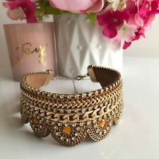 Golden Tones Choker Fashion Necklace - Bollywood Style