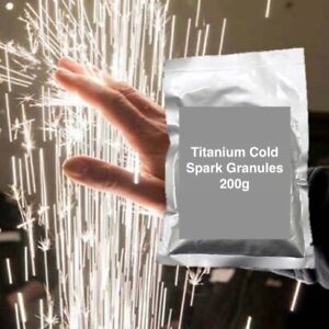 Cold Spark Machine Titanium Powder Six (6) 200g Bags - Shipping From USA